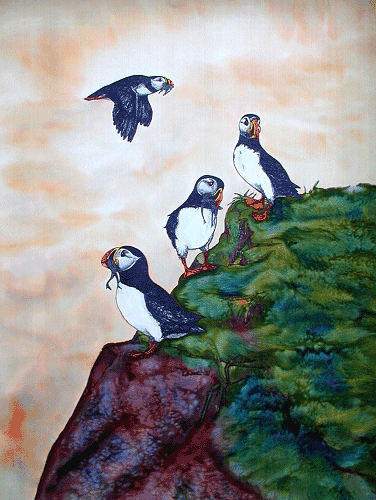 SILK WALLHANGINGS: Avian 202